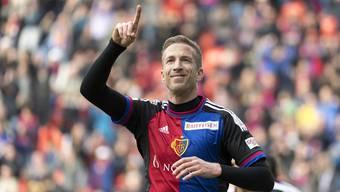 Marc Janko bejubelt seinen späten Siegestreffer gegen Lausanne.