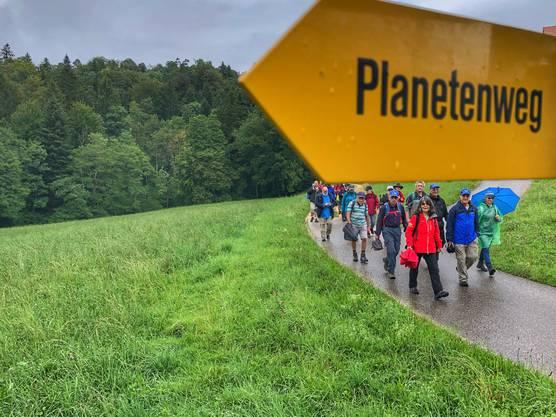 Der Planetenweg Laufen wurde im Mai neu eingeweiht.