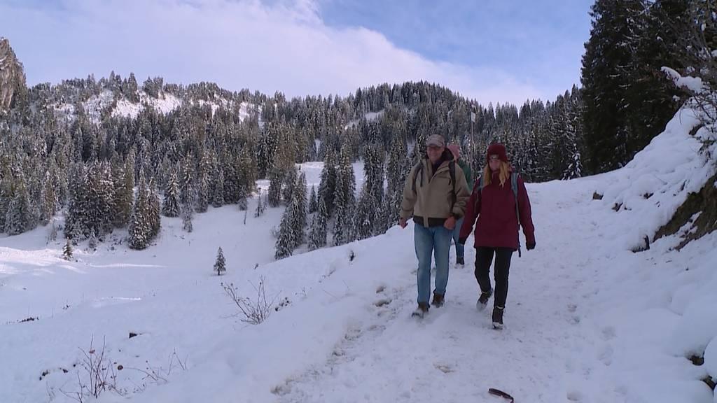 Erster Schneespass im Ybrig