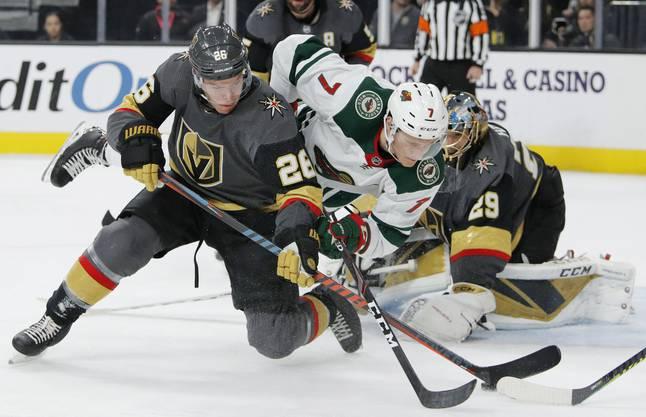 Schafften es im ersten Jahr gleich ins Stanley-Cup-Final: Die Las Vegas Golden Knights (vorne).