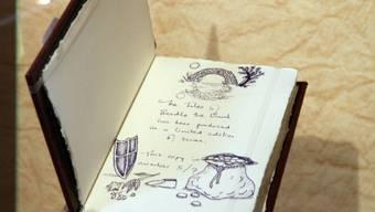 Blick in eines der sieben handgeschriebenen Beedle-Bücher (Archiv)