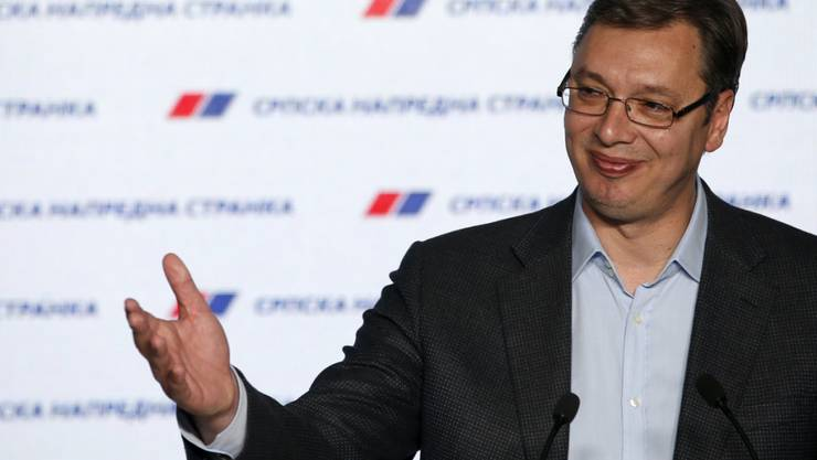 Der serbische Premierminister Aleksandar Vucic will Soldaten an die Grenze schicken, um Flüchtlinge abzuhalten. (Archiv)
