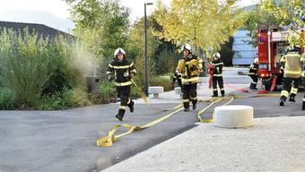 Die Einsatzkräfte der Feuerwehr Kestenholz an der diesjährigen Hauptübung.