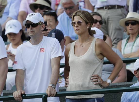 Auch Gattin Mirka Federer lässt sich die Partien ihres Mannes nicht entgehen.