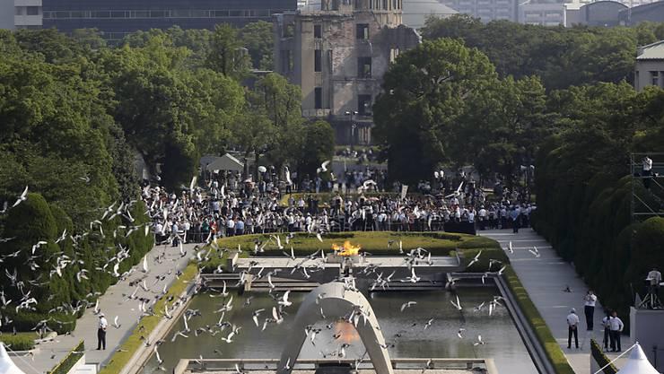 Das Mahnmal zum Atombombenabwurf über Hiroshima - US-Präsident Barack Obama will Hiroshima noch diesen Monat besuchen.