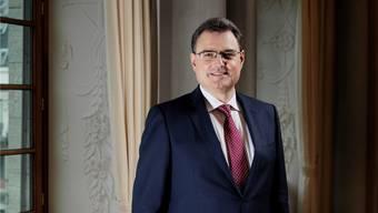 Thomas Jordan, Präsident der Schweizerischen Nationalbank, am Sitz der Notenbank in Zürich. Foto Paolo Dutto