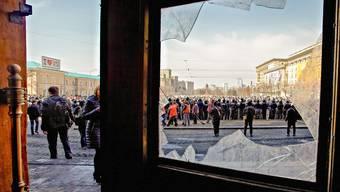 In Charkiw gelang es der Regierung in Kiew, die Separatisten wieder aus dem Verwaltungsgebäude zu vertreiben.