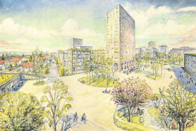 Illustration vom neuen Quartier von Matthias Gnehm. (2)