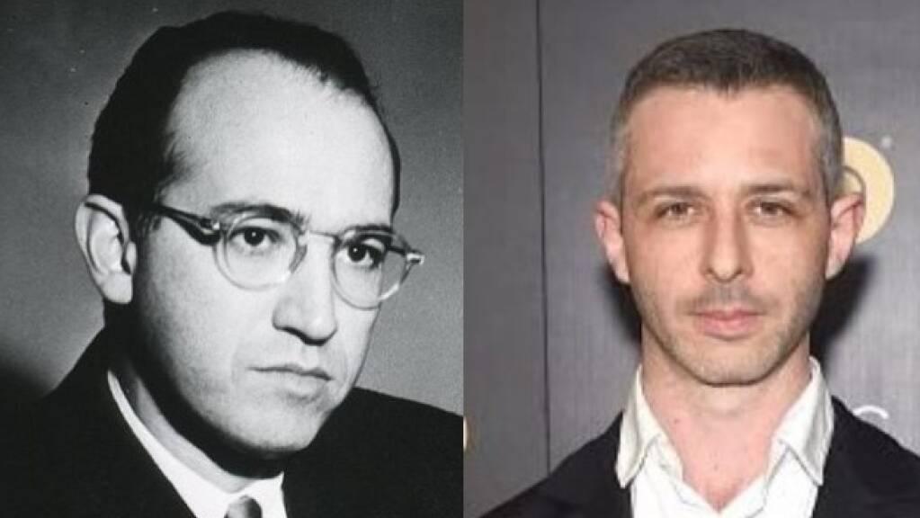 Eine gewisse physiognomische Ähnlichkeit ist nicht von der Hand zu weisen: Jonas Salk, der Entwickler der Polio-Impfung (l) und der Schauspieler Jeremy Strong (r), der ihn im Film spielen soll (Keystone/imdb)