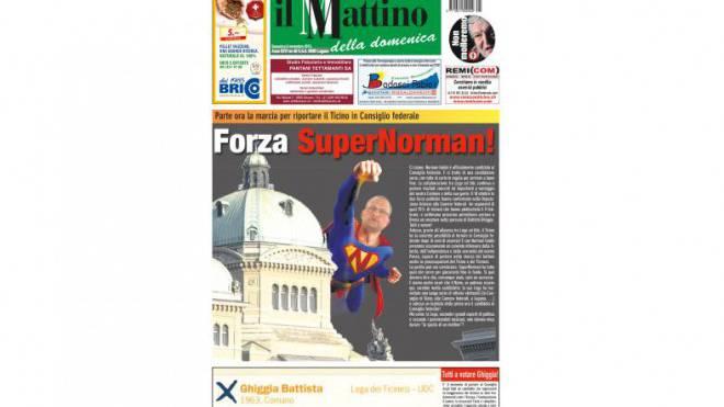 Stammtisch in gedruckter Form: Tessiner Sonntagszeitung «Mattino della domenica».