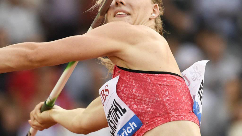 Macht in Götzis im Speerwurf eine gute Falle: Siebenkämpferin Géraldine Ruckstuhl