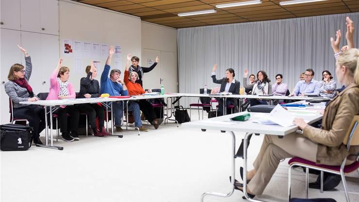 Im Oktober 2017 traf sich der neue Kreisschulrat Aarau-Buchs zum ersten Mal. Severin Bigler/Archiv