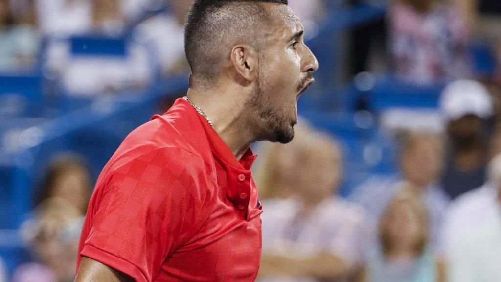 Ein Mann für die grossen Spiele: Nick Kyrgios zeigt sich gegen Rafael Nadal wieder einmal von seiner bissigen Seite