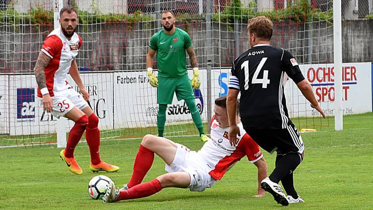 Erst zwei Gegentore kassierte die Solothurner Hintermannschaft um Torhüter Jeffrey Grosjean in den sieben bisherigen Meisterschaftsspielen.