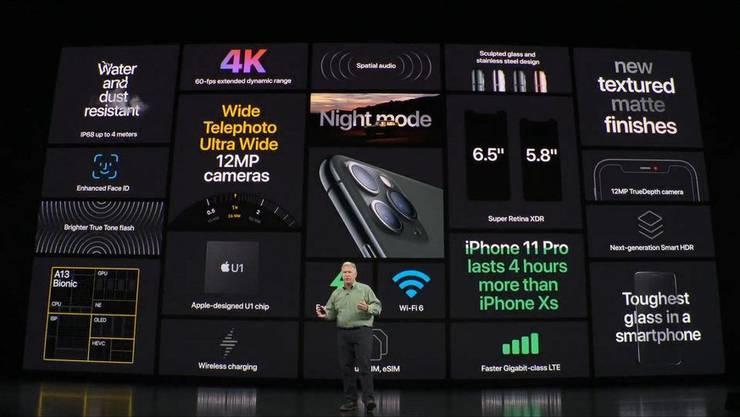 Die neuen iPhones sind nach IP68-Standard zertifiziert, sind also staub- und wasserresistent. Zur Bruchfestigkeit des Sicherheitsglases wurde nichts weiter gesagt.