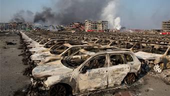 Die beiden Explosionen in der chinesischen Hafenstadt Tianjin hinterliessen Bilder der Verwüstung. Ng Han Guan/Keystone