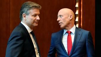 Raiffeisen-Übergangspräsident Pascal Gantenbein stärkte Patrik Gisel lange Zeit den Rücken. Walter Bieri/Keystone