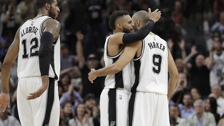 Die San Antonio Spurs um Superstar Tony Parker sind in der nächsten Playoff-Runde Gegner von Clint Capela und den Houston Rockets