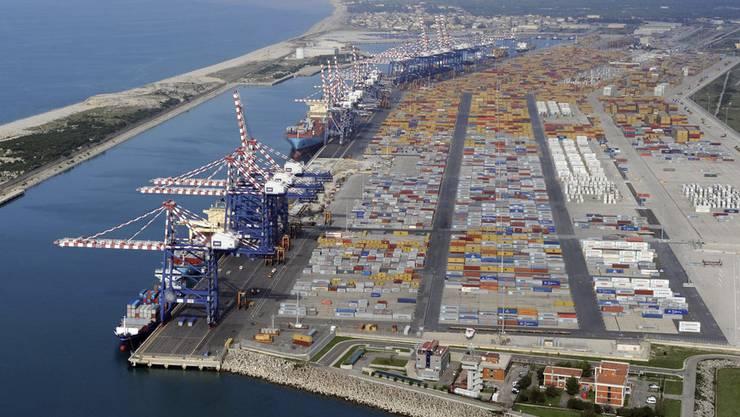Der Hafen von Gioia Tauro.