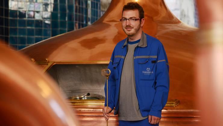 Kein Brauer, sondern ein Lebensmitteltechnologe Schwerpunkt Bier: Christoph Lutterer an seinem Arbeitsplatz.