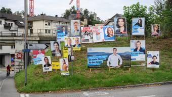 Wahlplakate im Kanton Aargau
