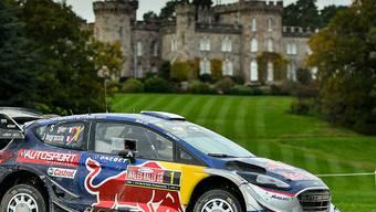 Sébastien Ogier während dem Grossbritannien-Rallye