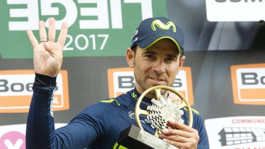 Vierter Sieg nach 2006, 2008 und 2015: Alejandro Valverde triumphiert erneut bei Lüttich - Bastogne - Lüttich