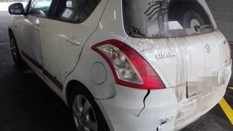 Der Fahrer entwendete diese Suzuki und wurde von der Polizei verfolgt.