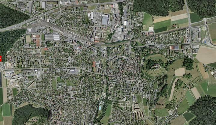 ...und das dichter bebaute Lenzburg von heute.