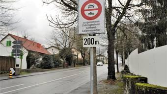 Fahrverbot: Aarau krebst um 200 Meter zurück