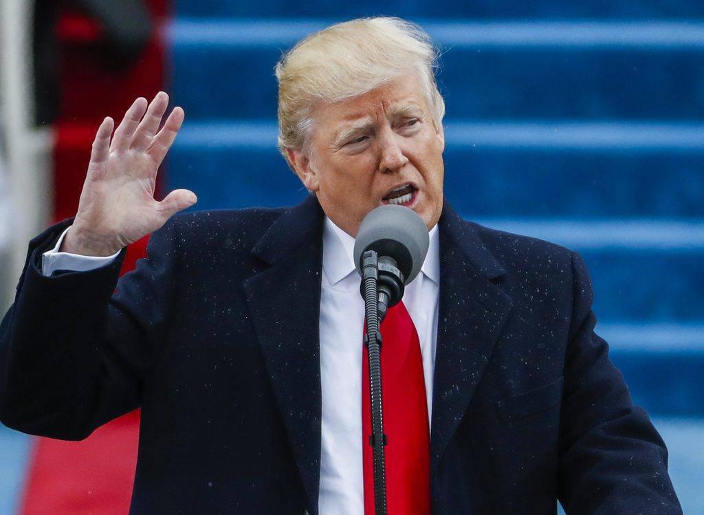 «Ich werde euch nie im Stich lassen», sagt Donald Trump während seiner ersten Rede nach der Vereidigung.