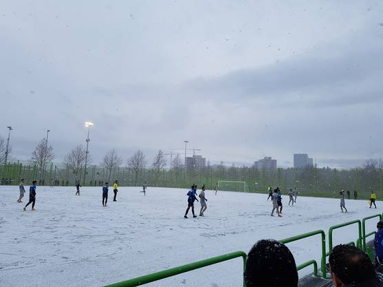 Testspiel FC Zürich FC Aarau - zweite Halbzeit im  Schneetreiben (5)