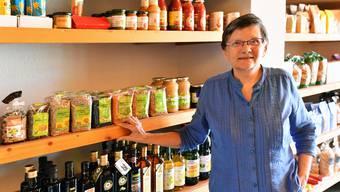 Liselotte Portmann betreibt seit gut 18 Jahren das Bioland Olten. Im ersten Halbjahr managte sie Laden, Küche und Service noch alleine.