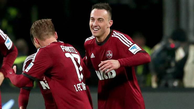 Der erste Auslandsaufenthalt: Bei Nürnberg steht der Schweizer 33 Mal auf dem Platz. Seine 17 Tore für den Klub reichen nicht, um ihn vor dem Abstieg zu bewahren. Drmic verlässt Nürnberg trotz Vertrag bis 2017.