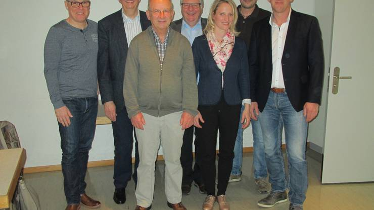 Die Mitglieder des neuen Vorstandes vlnr: Patrick Stäuble, Werner Schneider, Fritz Käser, Hansueli Bühler, Corinne Siegfried, Sven Born und Beat Käser