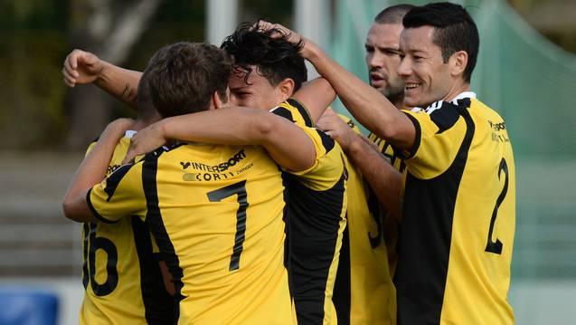 Die Old Boys freuen sich über den 2:1 Sieg gegen den FC Köniz.