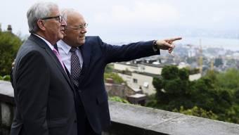 EU-Kommissionspräsident Jean-Claude Juncker zu Besuch bei Bundespräsident Johann Schneider-Ammann