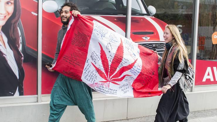 Kanada hat am Mittwoch den Gebrauch von Cannabis vollständig freigegeben.