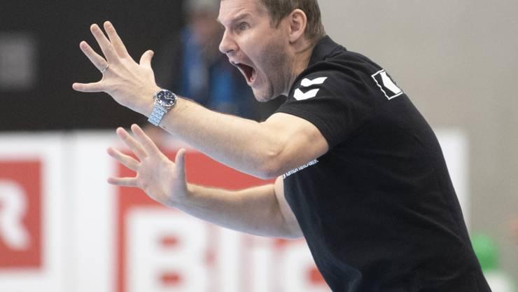 Schaffhausens Trainer, Petr Hrachovec, startet heute mit den Kadetten mit dem Heimspiel gegen Dinamo Bukarest in die Champions League