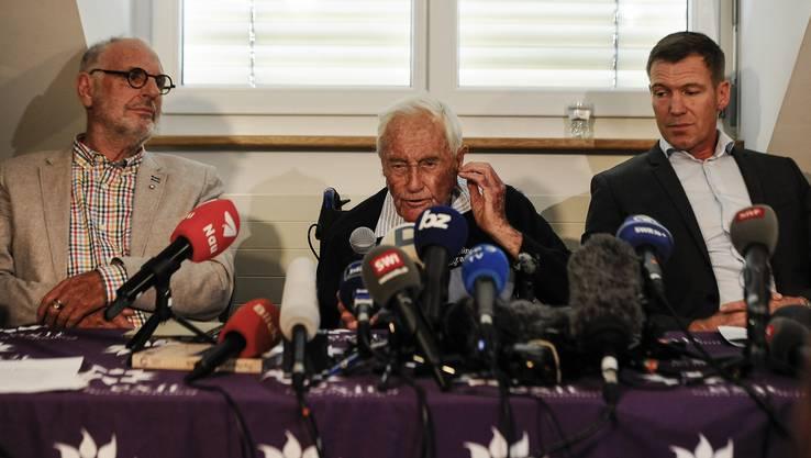 PK mit David Goodall, Philip Nitschke und Moritz Gall zu dem begleitetem Suizid des 104jährigen Professor David Goodall