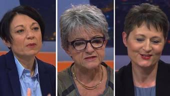 """Im """"Talk Täglich"""" sprachen die Regierungsratskandidatinnen Yvonne Feri, Maya Bally und Franziska Roth hauptsächlich über Politik. Im anstehenden Talk in der Aarauer Stadtbar solls um Persönliches gehen."""