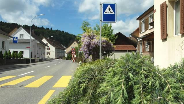 Blick auf die Bruggerstrasse in Veltheim. (Archivbild)