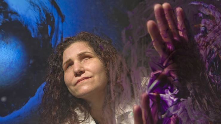 Die im Film porträtierte blinde Künstlerin Pina Dolce.