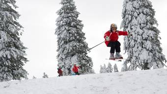Passionierte Freizeitsportler von klein bis gross vollbringen angesichts der Schneemassen wahrhafte Freudensprünge.