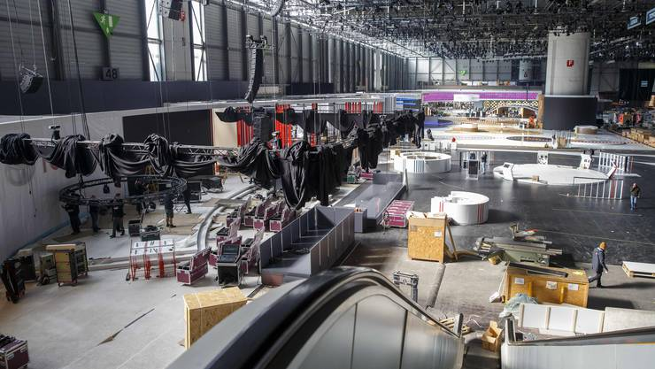 Nach dem Aufbau ist vor dem Abbau: Auch der diesjährige Autosalon in Genf  musste abgesagt werden.