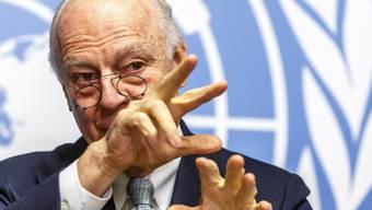 UNO-Sondervermittler Staffan de Mistura will die Gespräche am Freitag in Genf beginnen lassen. (Archivbild)