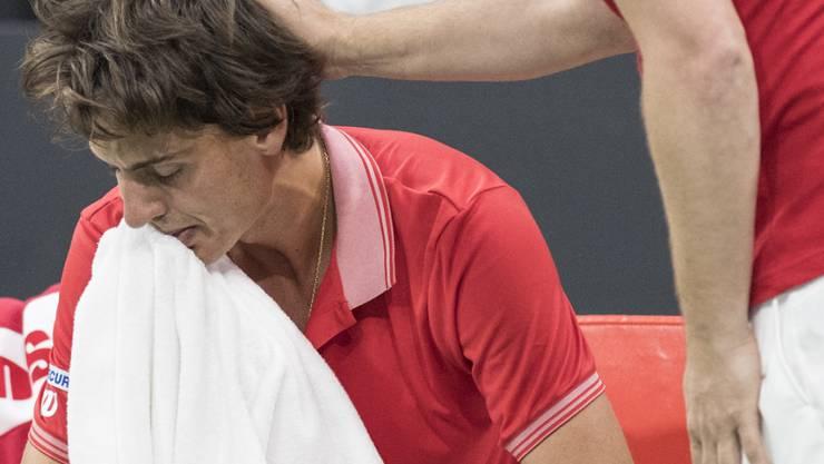Marc-Andrea Hüsler erlitt in Biel eine schmerzhafte Niederlage