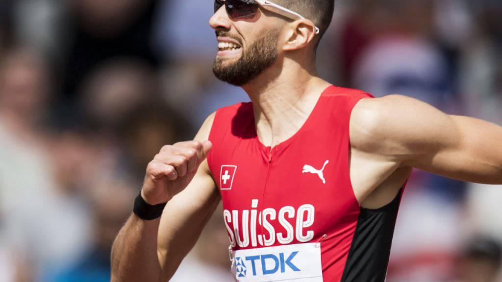 Kariem Hussein lief es im Vorlauf über 400 m Hürden überhaupt nicht nach Wunsch