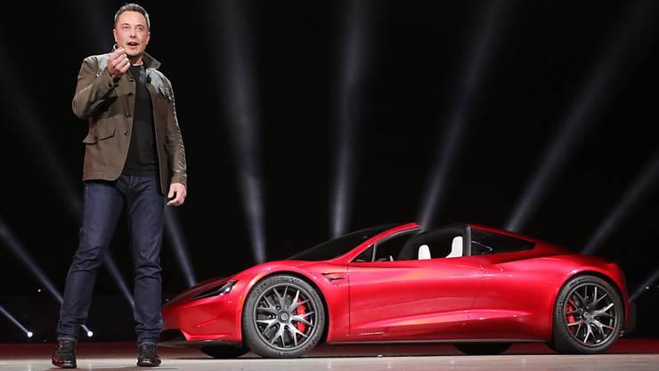 Elon Musk bei der Vorstellung eines neuen Modells im letzten September.