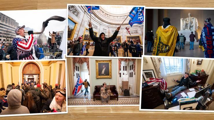 Die Zeitgeschichte brennt sich in einzelnen Bildern in unser Gedächtnis einm das war bei 9/11 und dem Fall der Berliner Mauer so. Die Fotos vom Sturm auf das Kapitol am 6. Januar 2021 hat Jim Lo Scalzo geliefert.